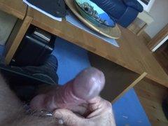 Steel cock vidz ring and  super anal plug wank slow motion cum
