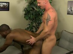 Interracial love vidz at the  super office with JP Richards and Mitch Vaughn