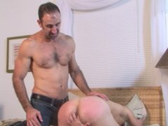 Twink toys vidz his ass  super while muscular DILF worships it
