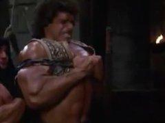 Lou Ferrigno, vidz Bends Steel,  super Snaps Chains and Flexes Huge Muscles