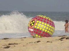 AQUABALL AT vidz THE LIGHTHOUSE  super BEACH