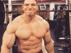 Young Bodybuilder vidz Training and  super Posing