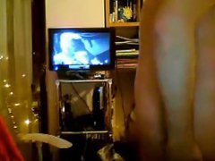 Sexy chubby vidz cub playing  super with his ass