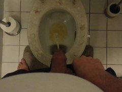 Pissing on vidz toilet