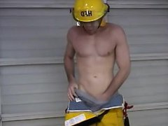 American firefighter vidz showing off