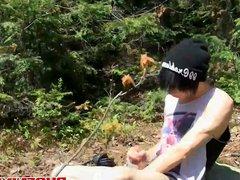 Sexy Asian vidz twink Daniel  super Tanner pleasures himself outdoor