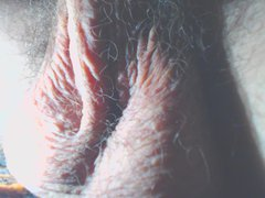 Hairy balls vidz close-up orgasm