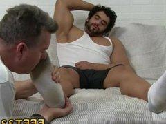 Lick cum vidz off sleepy  super feet and gay twink feet