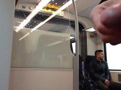 Jerk off vidz infront of  super a guy in the train part 1