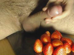Cum on vidz Food -  super Strawberry and Cum