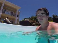 Cumming in vidz the public  super pool
