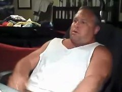 Chunky daddy vidz stroking and  super cumming