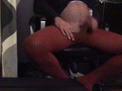 Cumming in vidz red pantyhose