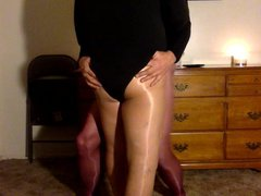 leotard lust vidz in pantyhose