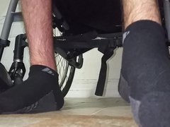 My paraplegic vidz feet with  super socks