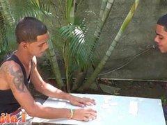 Exotic twink vidz mates play  super strip domino for a blowjob