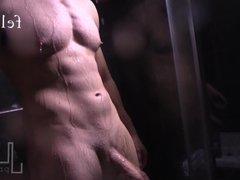 Straight Felix vidz Brazeau' Shower  super Scene Stroking Huge Hard Cock