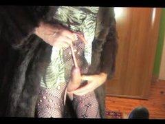 shemale transvestite vidz sounding urethral  super lingerie nylon dildo
