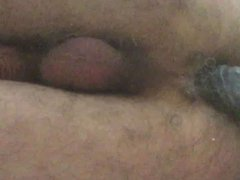 Me at vidz home,alone with  super a home made butt plug