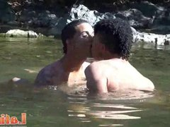 Fun-seeking Latinos vidz give in  super to their lust outdoors
