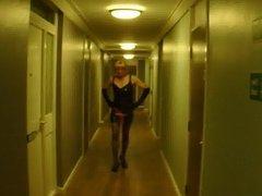 sissy shelly vidz walking outside  super a friends flat