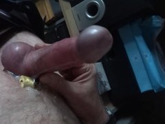 Cam wank vidz with ring  super on slow motion