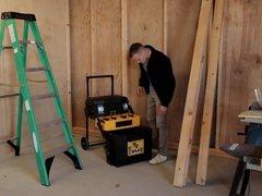 Hot Construction vidz Worker Caught  super with Big Dildo