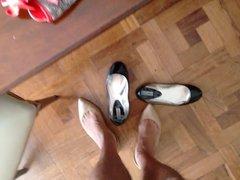 Cum in vidz my new  super peep toe ballet flats