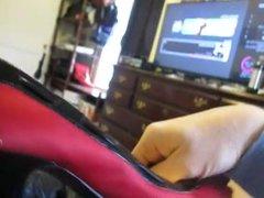 Fucking Red vidz n Black  super peep toes from MrMessyshoes