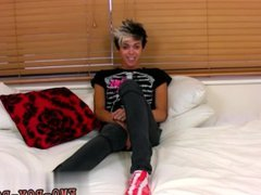 Gay emo vidz twinks in  super jeans tube His look is