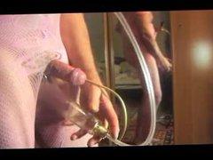 transsexual shemale vidz pumping toy  super dildo pump lingerie nylon