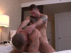 ActiveDuty Hunky vidz Brad's First  super Time with A Guy!