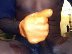 Orange glove vidz wack off