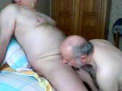 Older men vidz kissing another  super men's cock