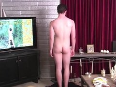 Str8 Boy vidz comes to  super terms with male stimulation