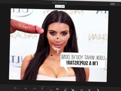 Kim Kardashian vidz Fake Huge  super Cumshot On The Face