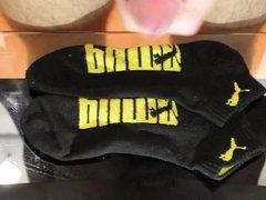 Cum on vidz black Puma  super socks