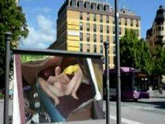 Naked public vidz billboard masturbation  super by Mark Heffron