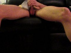 Sega col vidz calzino. Sock's  super handjob with cumshot