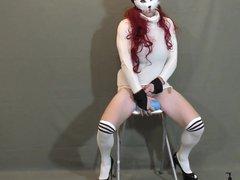 rossdress 2: vidz Posing, Riding  super + Grinding Dildo & Cumshot