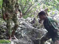 Army boys vidz scout for  super hard meat outdoors