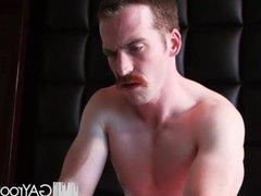 GayRoom - vidz Long massage  super turns into slippery ass fucking