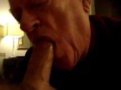 Grandpa sucking vidz a nice  super cock