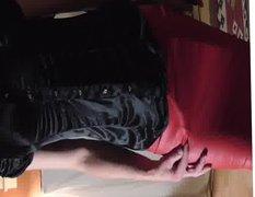red skirt vidz walk