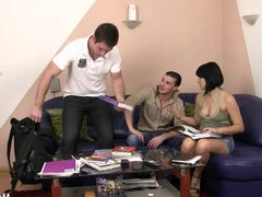 Cheating gay vidz suck and  super fuck on the couch