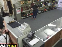 Dude takes vidz dick behind  super the counter and in the bathroom