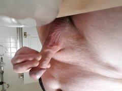 MR CUMBLASTER vidz shoots a  super huge load in the bathroom sink