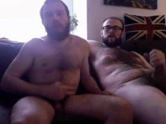 Couple of vidz bears wanking  super and eating cum