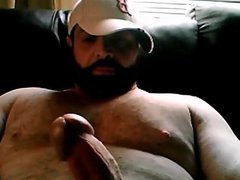 Big handsome vidz bear playing  super with his big cock