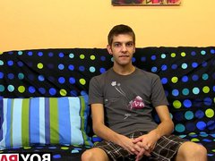 Cute brunette vidz Max Morgan  super interview then jerking session